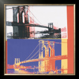 Brooklyn Bridge, c.1983 (black bridge/white background) Poster by Andy Warhol