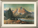 Evening in the Tetons Prints by Robert Wood