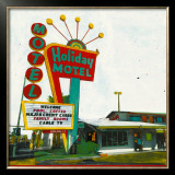 Holiday Motel: Miami Highway Prints by Ayline Olukman