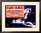 Cafe ABG Framed Giclee Print by  Fries