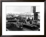San Francisco, Cable Cars, Wharf Framed Giclee Print