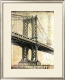 Manhattan Bridge Art by P. Moss
