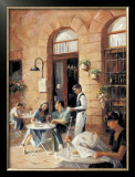 Cafe Society II Print by Michele Stapley