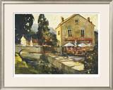 Pont Aven River Cafe Limited Edition Framed Print by Ted Goerschner
