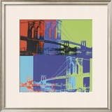 Brooklyn Bridge, c.1983 (Orange, Blue, Lime) Art by Andy Warhol