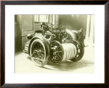 Fire Fighters Motorcycle Framed Giclee Print