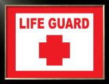Sign, Life Guard Print