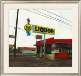 Route 66: West End Liquor Print by Ayline Olukman