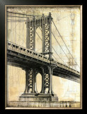 Manhattan Bridge Posters by P. Moss
