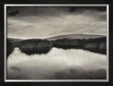 Pond and Montezuma Hills, Sacramento-San Joaquin River Delta, 2000 Print by Roman Loranc