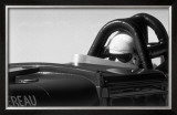 El Mirage Salt Flat Racer Framed Giclee Print by David Perry