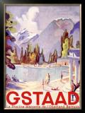 Gstaad Swiss Ski Resort Framed Giclee Print