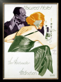 Hauser's Hotel Framed Giclee Print by Ludwig Hohlwein