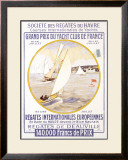 Yacht Club de France Framed Giclee Print