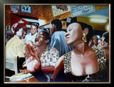 Salsa in Cuba Cafe Prints by Alain Bertrand