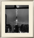 Lightning Striking the Empire State Building, New York City, July 9, 1945 Framed Giclee Print