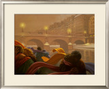 Une Nuit au Pont Neuf Prints by Claude Theberge