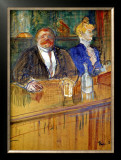 French Bar Framed Giclee Print by Henri de Toulouse-Lautrec