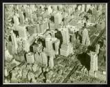 New York City, Skyline and Biplanes Framed Giclee Print