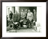First Mondial Made Motorcycle Framed Giclee Print