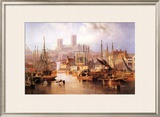 The Brayford Pool and Lincoln Cathedral Art by John Wilson Carmichael