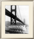 San Francisco Ballet Company and the Golden Gate, c.1960 Framed Giclee Print