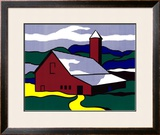 Red Barn II, 1969 Posters by Roy Lichtenstein