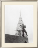 Dancing by Chrysler Building Poster