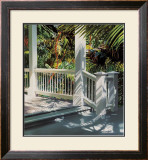 Small Glittering Porch Print by Alice Dalton Brown