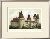 French Chateaux I Print by Victor Petit