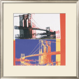 Brooklyn Bridge, c.1983 (black bridge/white background) Print by Andy Warhol