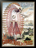 Grand Roue de Paris Framed Giclee Print by  Dorfinant
