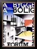 Bygge og Bolig Framed Giclee Print by Ib Andersen