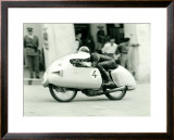 Mondial Motorcycle GP Dustbin Framed Giclee Print