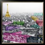 Eiffel Colours Prints by Anne Valverde