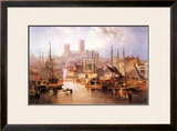The Brayford Pool and Lincoln Cathedral Poster by John Wilson Carmichael