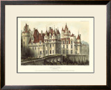 French Chateaux VII Print by Victor Petit