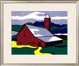 Red Barn II, 1969 Prints by Roy Lichtenstein