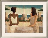 On the Terrace Print by Glenn Quist
