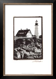 Portland Headlight I Posters by Laura Denardo