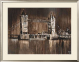 London Tower Bridge Posters by Yuliya Volynets
