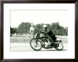 Gilera Saturno Racing Framed Giclee Print by Giovanni Perrone