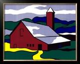 Red Barn II, 1969 Prints by Roy Lichtenstein