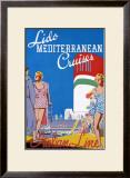 Lido Med Cruises Framed Giclee Print