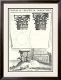 Chapiteau Corinthien Poster by Claude Perrault