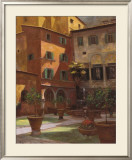 Siena Courtyard Art by Greg Singley