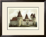 French Chateaux I Prints by Victor Petit