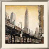 The Chrysler Building from the L Posters by Mathew Daniels