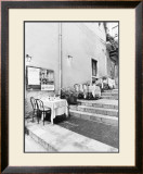 Tables on the Steps, Taormina Prints by Monte Nagler