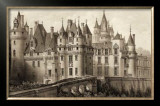 Sepia Chateaux II Prints by Victor Petit